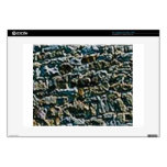 """coarse stone wall decal for 15"""" laptop"""