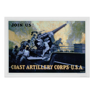 Coast Artillery Corps (US02042) Poster