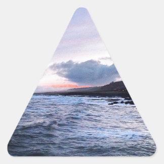 Coast at Night Triangle Sticker