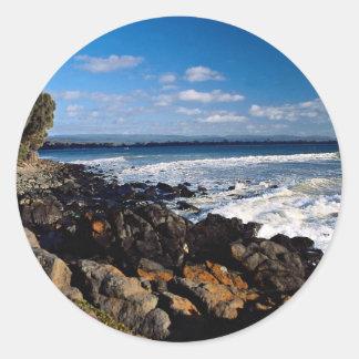 Coast at Swansea U K Stickers