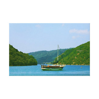 Coast Boat Ship Summer Bay Gallery Wrap Canvas