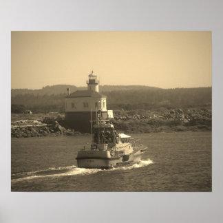 Coast Gaurd, Lighthouses, Oregon, coast Poster