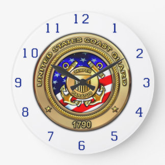 "Coast Guard 10.75"" Large Clock"