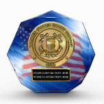 Coast Guard Acrylic Octagon Award at Zazzle