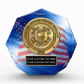 Coast Guard Acrylic Octagon Award