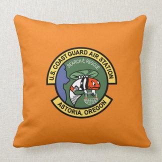 Coast Guard Air Station Astoria Throw Pillow