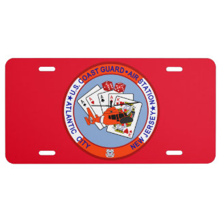 Coast Guard Air Station Atlantic City License Plate