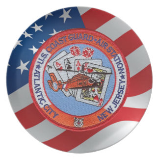 Coast Guard Air Station Atlantic City Melamine Plate