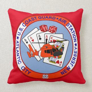 Coast Guard Air Station Atlantic City Throw Pillow