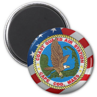 Coast Guard Air Station Cape Cod 2 Inch Round Magnet
