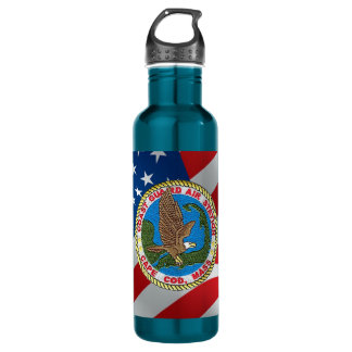 Coast Guard Air Station Cape Cod Stainless Steel Water Bottle