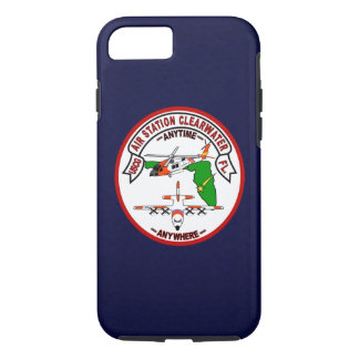 """Coast Guard Air Station Clearwater """"Navy Blue"""" iPhone 8/7 Case"""