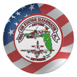 Coast Guard Air Station Clearwater Dinner Plates
