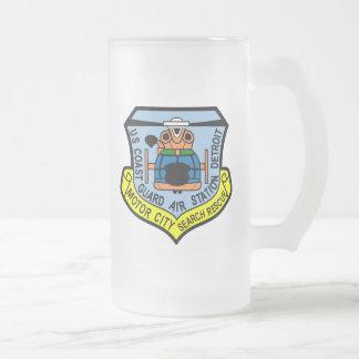 Coast Guard Air Station Detroit Frosted Beer Mug