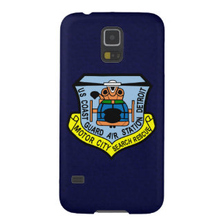 "Coast Guard Air Station Detroit  ""Navy Blue"" Galaxy S5 Covers"