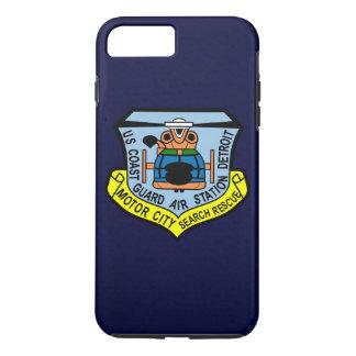 """Coast Guard Air Station Detroit  """"Navy Blue"""" iPhone 8 Plus/7 Plus Case"""