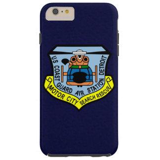 """Coast Guard Air Station Detroit  """"Navy Blue"""" Tough iPhone 6 Plus Case"""