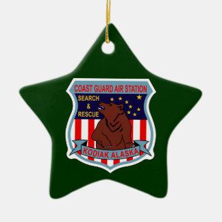 Coast Guard Air Station Kodiak, Alaska Double-Sided Star Ceramic Christmas Ornament
