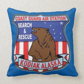 Coast Guard Air Station Kodiak Throw Pillow