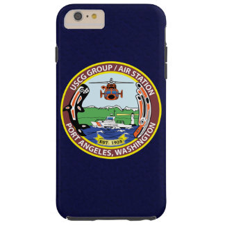 "Coast Guard Air Station Port Angeles ""Navy Blue"" Tough iPhone 6 Plus Case"