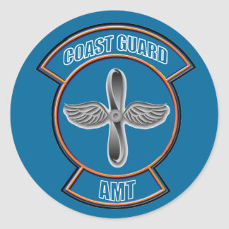 Coast Guard AMT Classic Round Sticker