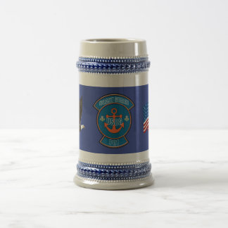 Coast Guard Anchor PO1 Beer Stein