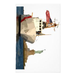 Coast Guard and Statue of Liberty Stationery