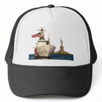 Coast Guard and Statue of Liberty Trucker Hat