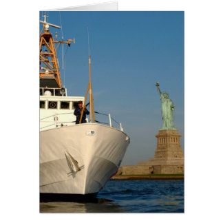 Coast Guard and the Liberty Statue Greeting Card