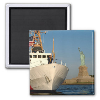 Coast Guard and the Liberty Statue Refrigerator Magnets