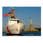 Coast Guard and the Liberty Statue Post Card