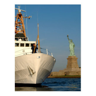 Coast Guard and the Liberty Statue Post Cards