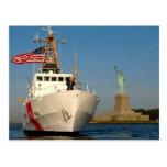 Coast Guard and the Liberty Statue Postcard