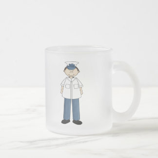 Coast Guard Boy Frosted Glass Coffee Mug
