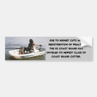 Coast Guard Budget Cuts Car Bumper Sticker