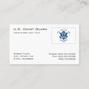 United states coast guard business cards zazzle coast guard business card colourmoves