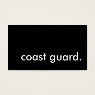 coast guard. business card
