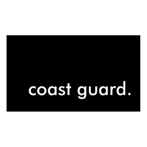 coast guard. business cards