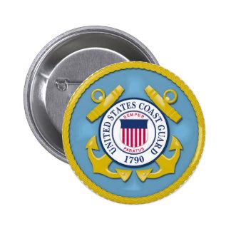 Coast Guard Pinback Button