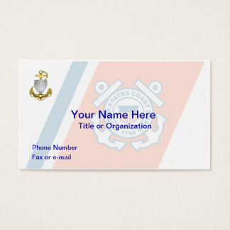 Coast Guard Chief Business Card
