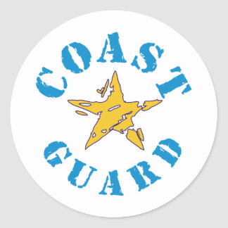 Coast Guard Classic Round Sticker
