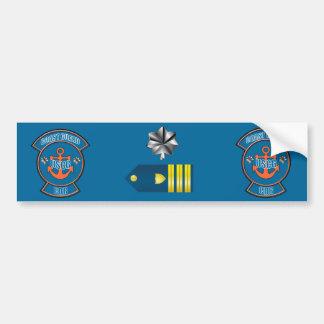 Coast Guard Commander Anchor Emblem Bumper Sticker
