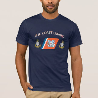 Coast Guard CPO Racing Stripe T-Shirt