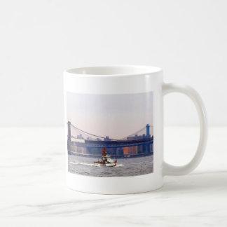 Coast Guard Cutter Near Brooklyn Bridge Coffee Mug