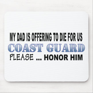 Coast Guard Dad Honor Mousepad
