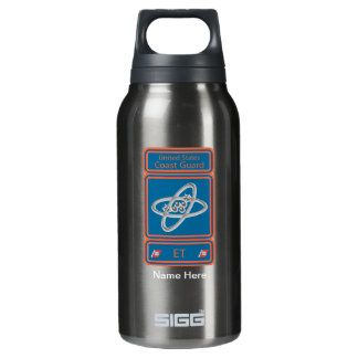 Coast Guard Electronics Technician Insulated Water Bottle