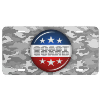 Coast Guard Emblem Camo Camouflage #2 License Plate