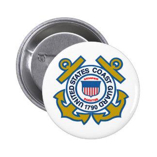 Coast Guard Emblem Pinback Button