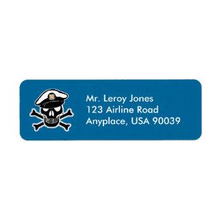 Coast Guard Enlisted Scull & Crossbones Label