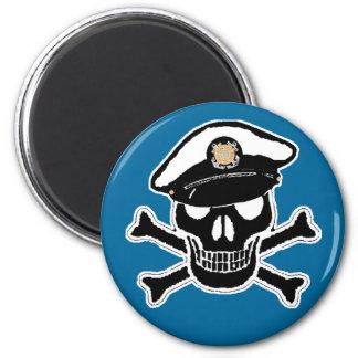 Coast Guard Enlisted Scull & Crossbones Refrigerator Magnet